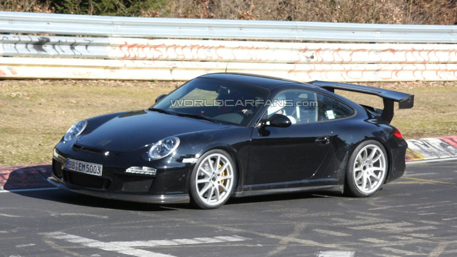 Porsche 911 GT3 RS Facelift Spy Photos on the Nurburgring