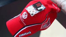 Michael Schumacher comeback cap, Belgian Grand Prix, Francorchamps, Belgium 28.08.2009