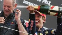 Adrian Newey, Red Bull Racing, Technical Operations Director, Sebastian Vettel, British Grand Prix 21.06.2009