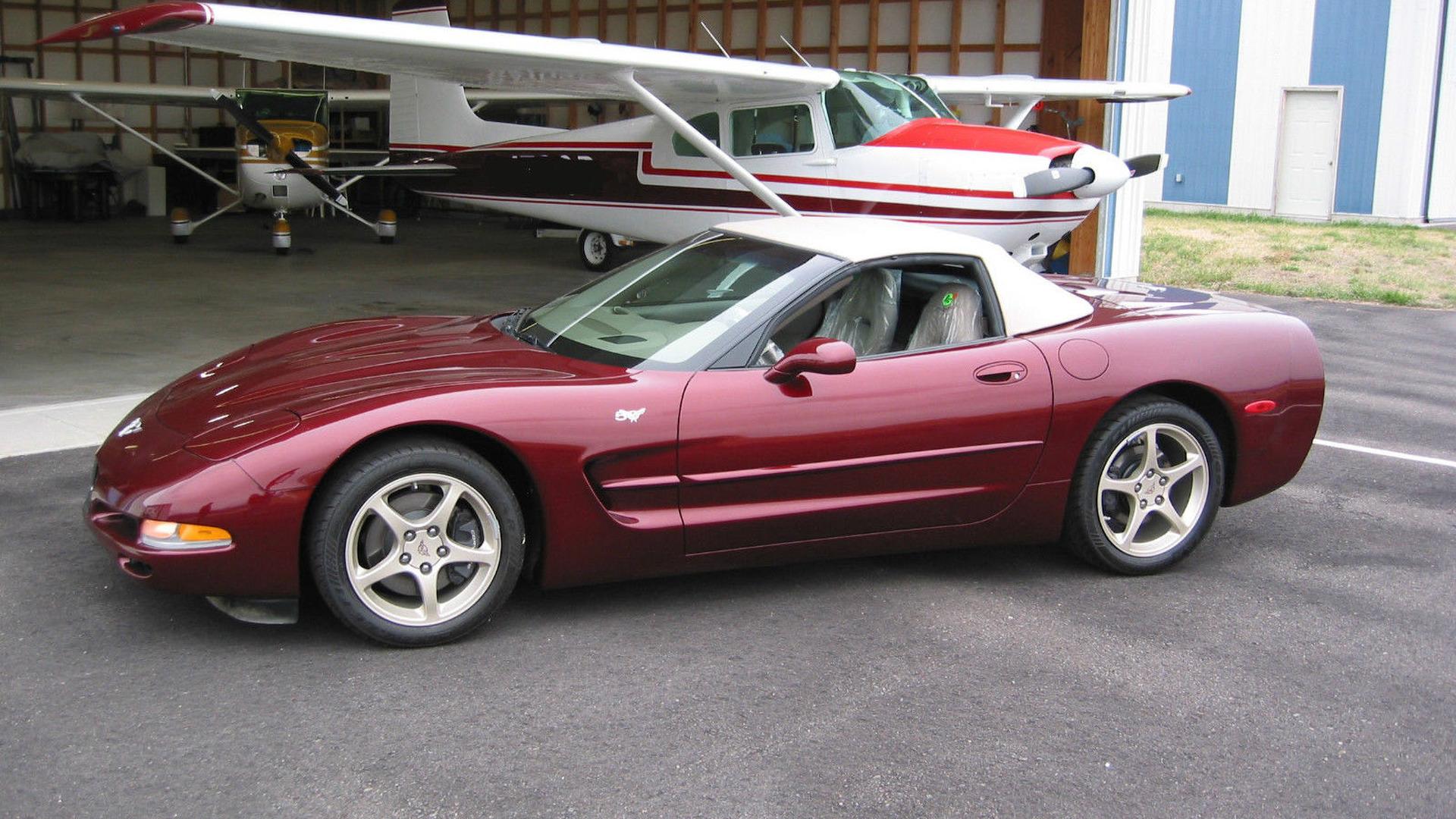 2003 chevrolet corvette with only 57 miles up for sale. Black Bedroom Furniture Sets. Home Design Ideas