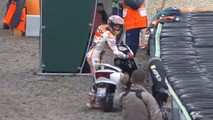 Marc Marquez borrows scooter from camera man