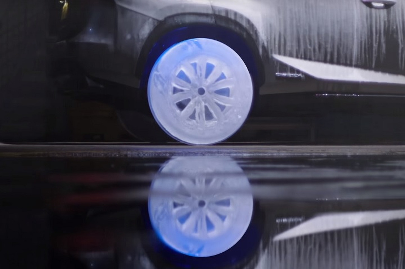 Watch a Lexus NX Roll on Wheels Made of Ice