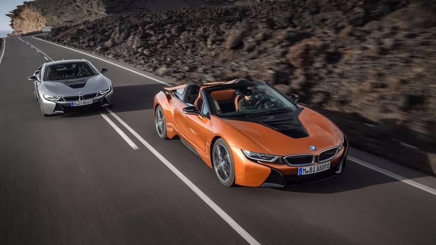 BMW dévoile les tarifs de l'i8 restylée et de sa déclinaison roadster