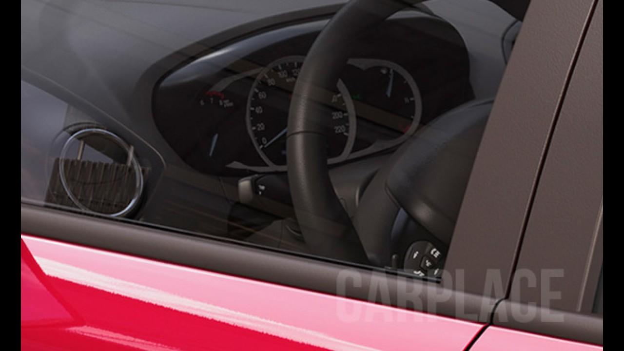 Ford divulga nova imagem e confirma batismo Ka+ para versão sedã do compacto