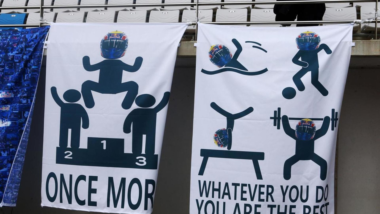 Banners for Mark Webber 06.10.2013 Korean Grand Prix