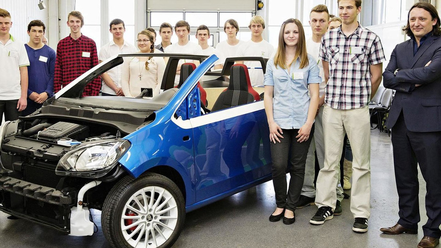Skoda Citigo transformed into CitiJet two-seater cabrio by company apprentices