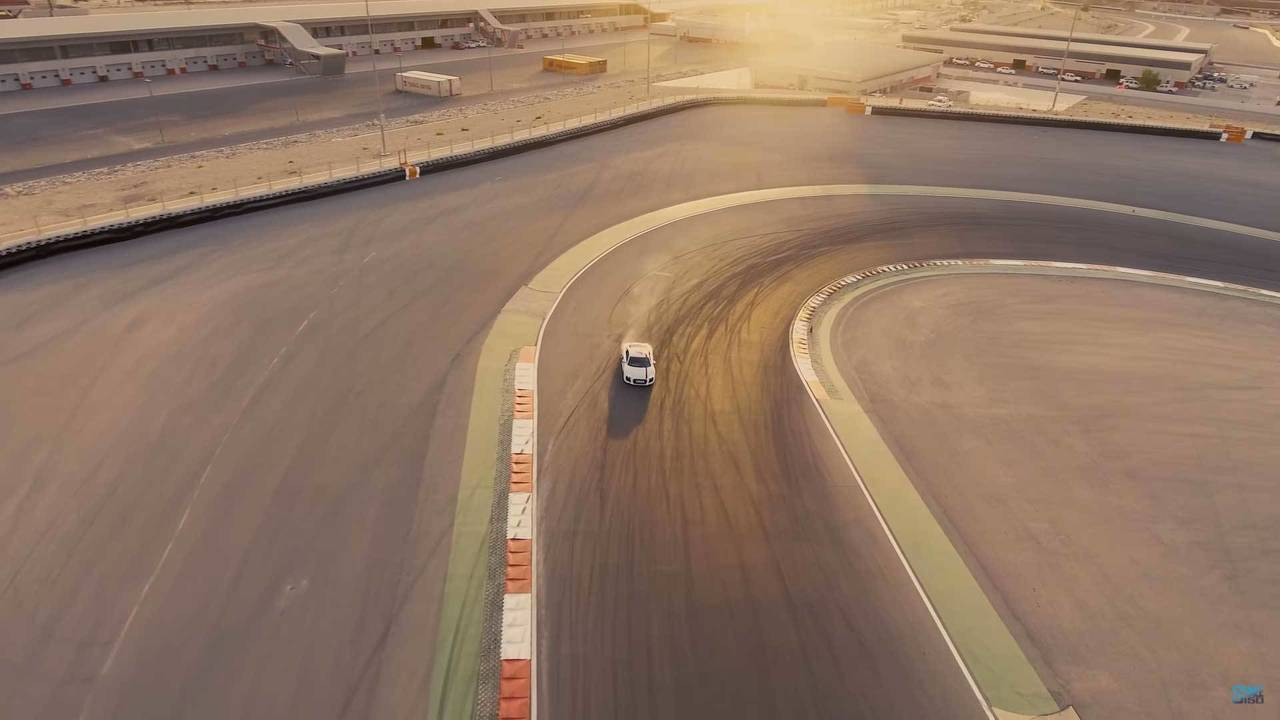 Audi R8 RWS At The Dubai Autodrome