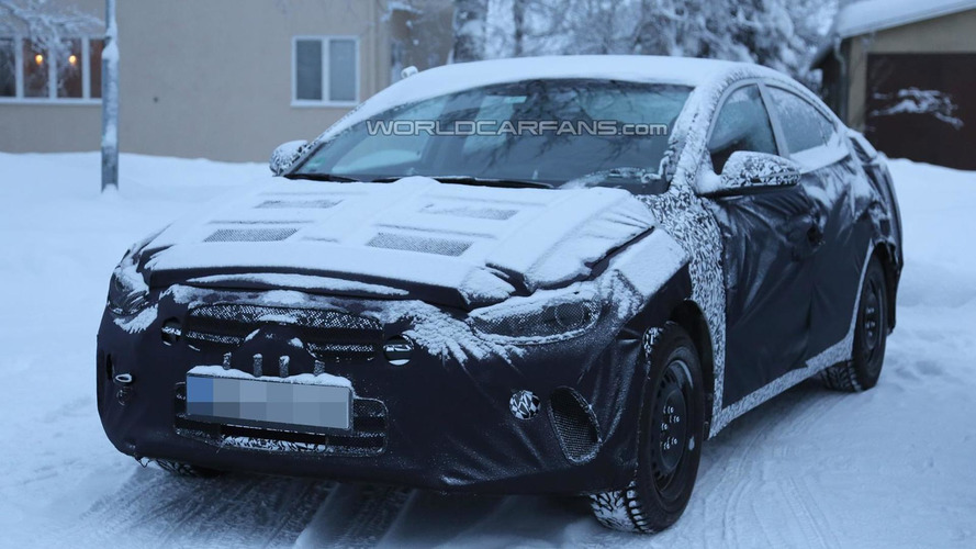 Next generation Hyundai Elantra makes spy photo debut, cabin pics included