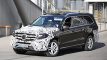Mercedes-Benz GLS (GL facelift) spied testing in Germany