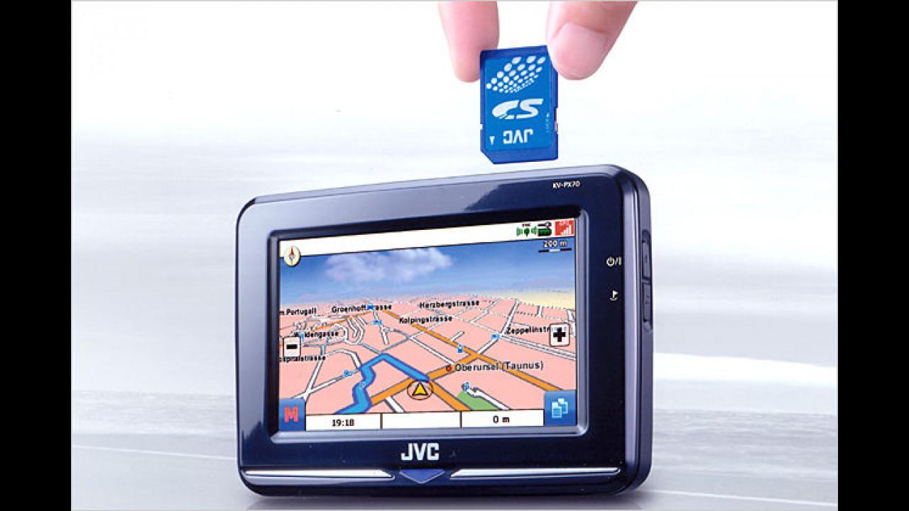 JVC KV PX70: Mit praktischem Fahrspurassistent