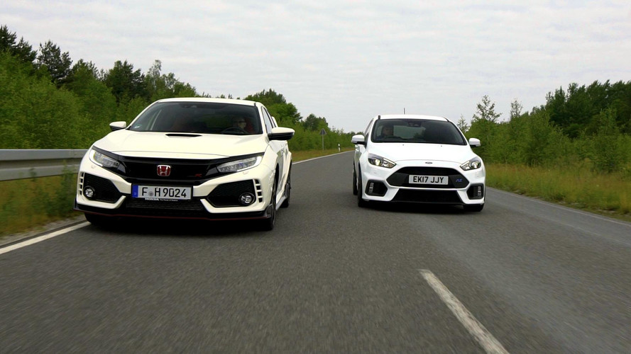 New Honda Civic Type R Versus Ford Focus RS