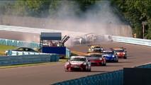 Porsche GT3 Cup Race Crash