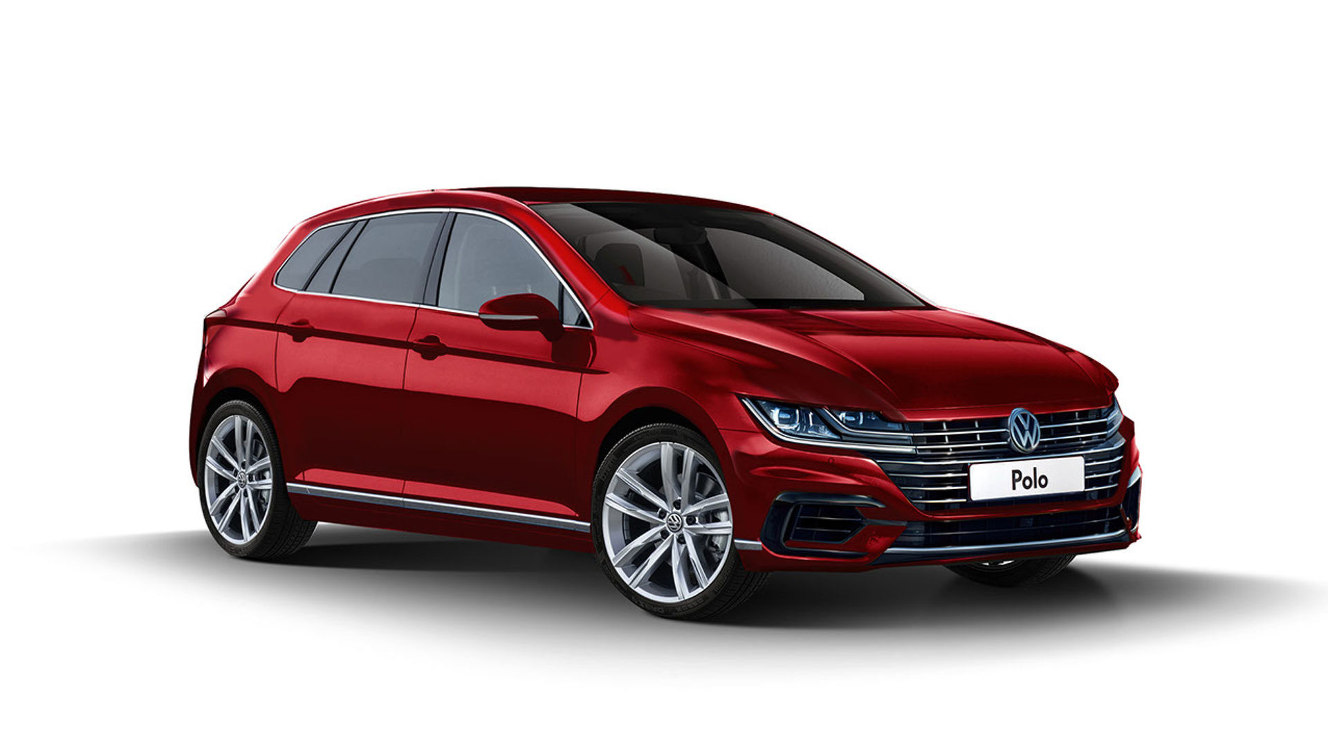 2018 vw polo looks elegant in new rendering. Black Bedroom Furniture Sets. Home Design Ideas