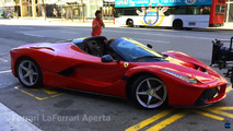 Ferrari LaFerrari Aperta filmed in Barcelona