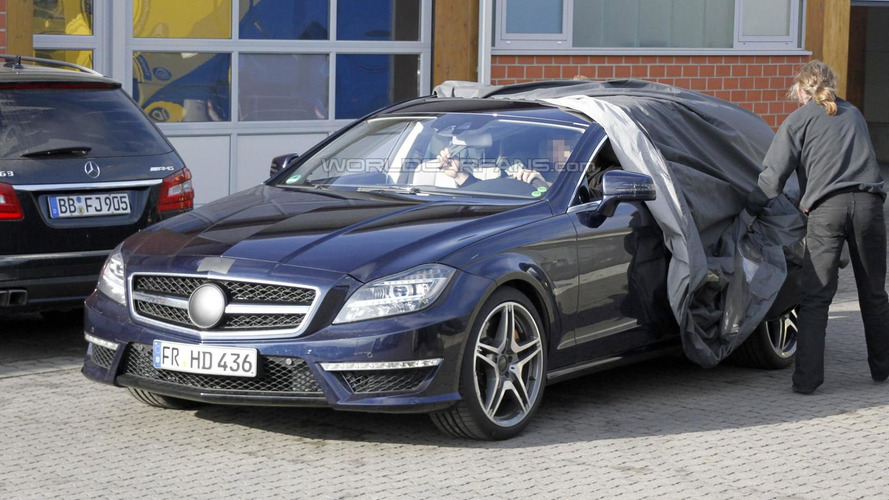 2014 Mercedes CLS 63 AMG Shooting Brake spied for first time