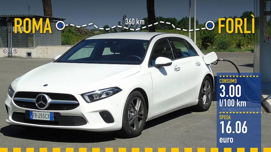 Mercedes A 180 d (2018), la prova dei consumi reali
