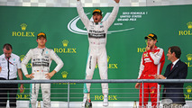 Winner Lewis Hamilton, second Nico Rosberg, third Sebastian Vettel, US grand prix 2015