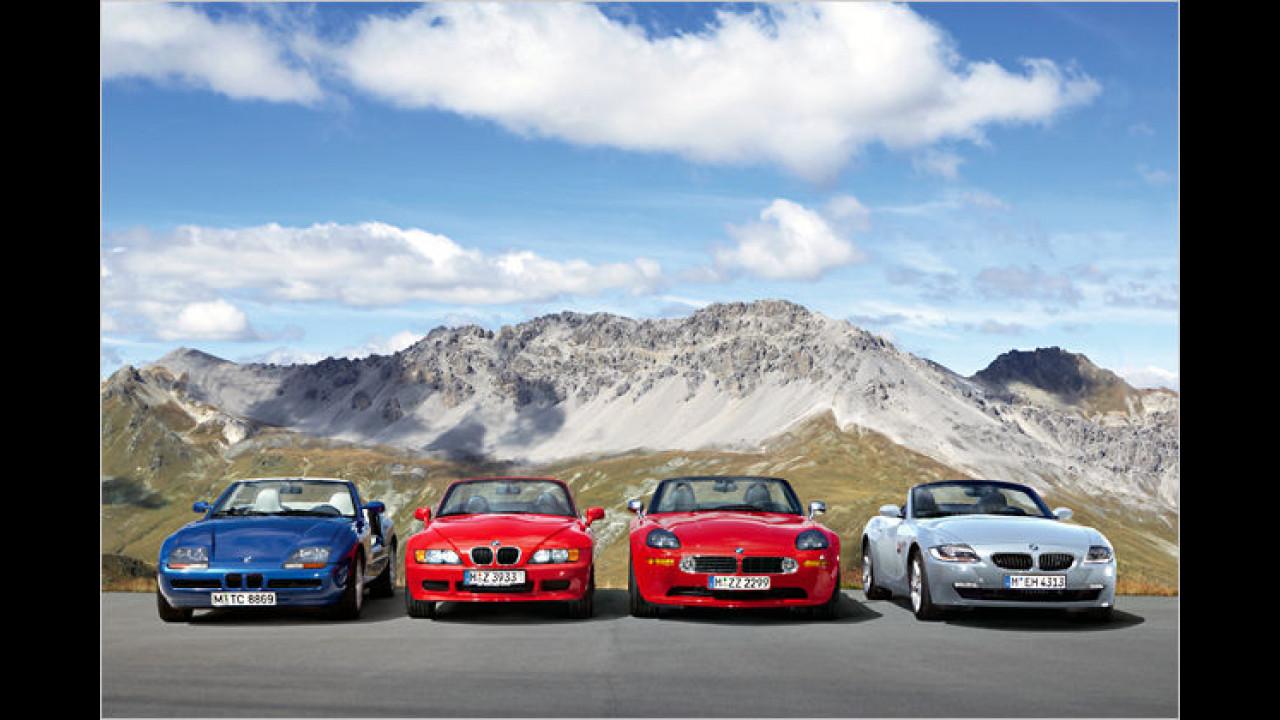 BMW Z1, Z3, Z8 und Z4