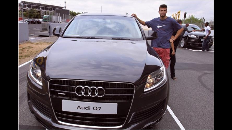 Neue Autos: Fußballer des FC Barcelona fahren Audi Q7