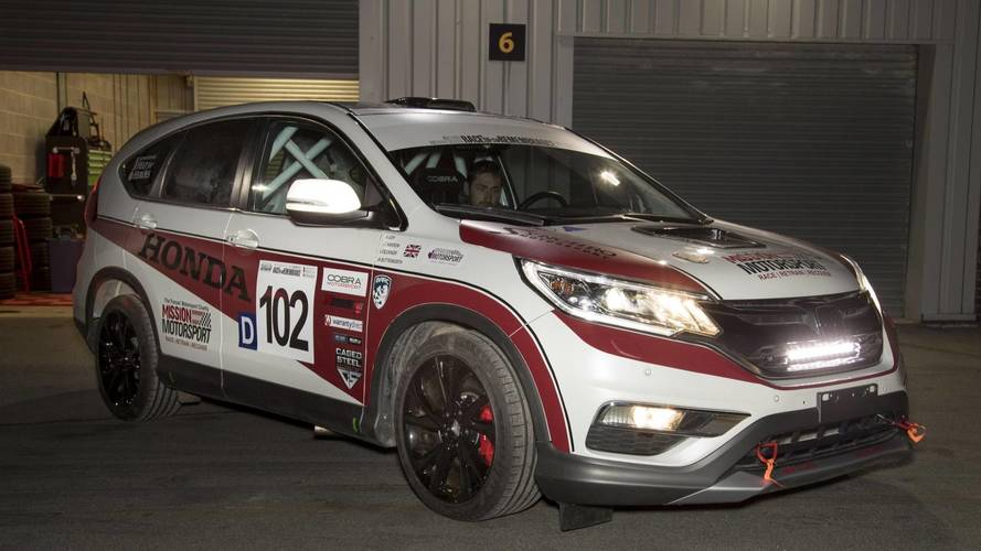Honda reveals one off cr v race car with diesel engine for Honda diesel cars
