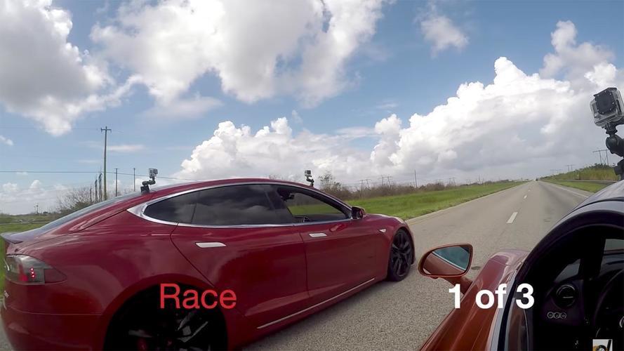 See If Tesla Model S P100D Can Beat McLaren 720S In Drag Race
