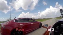 Tesla McLaren Race