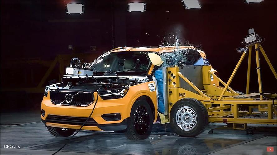 Gyári törésteszten a vadonatúj Volvo XC40