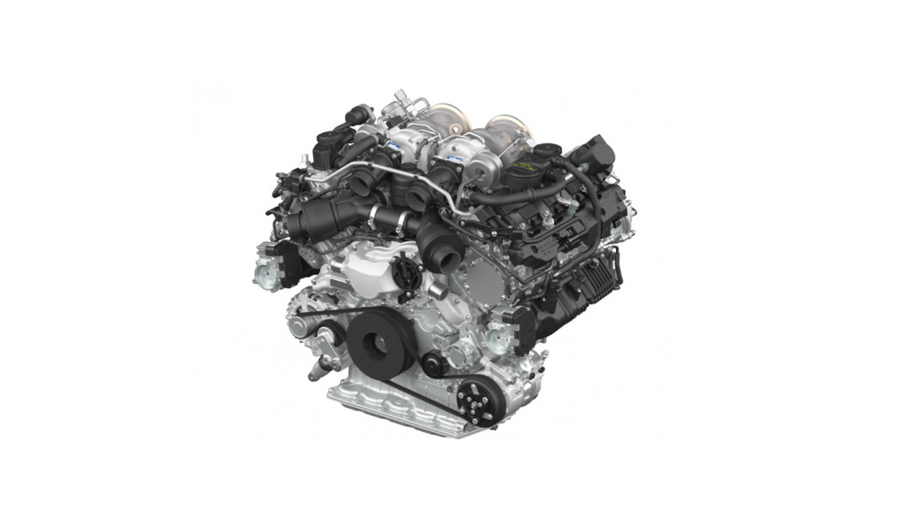 Porsche biturbo V8 engine