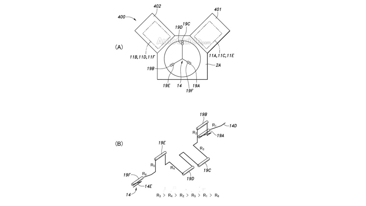 Honda patents engine with different sized pistons