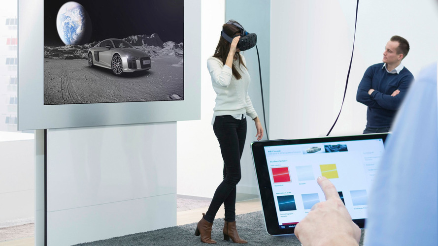 Explore Audis in virtual reality while waiting for a flight