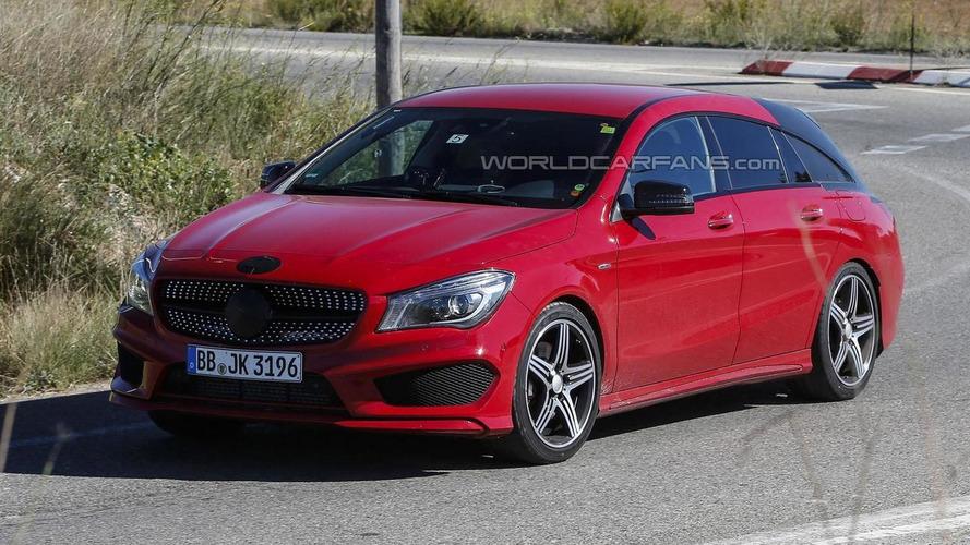 Mercedes CLA Shooting Brake spied virtually undisguised