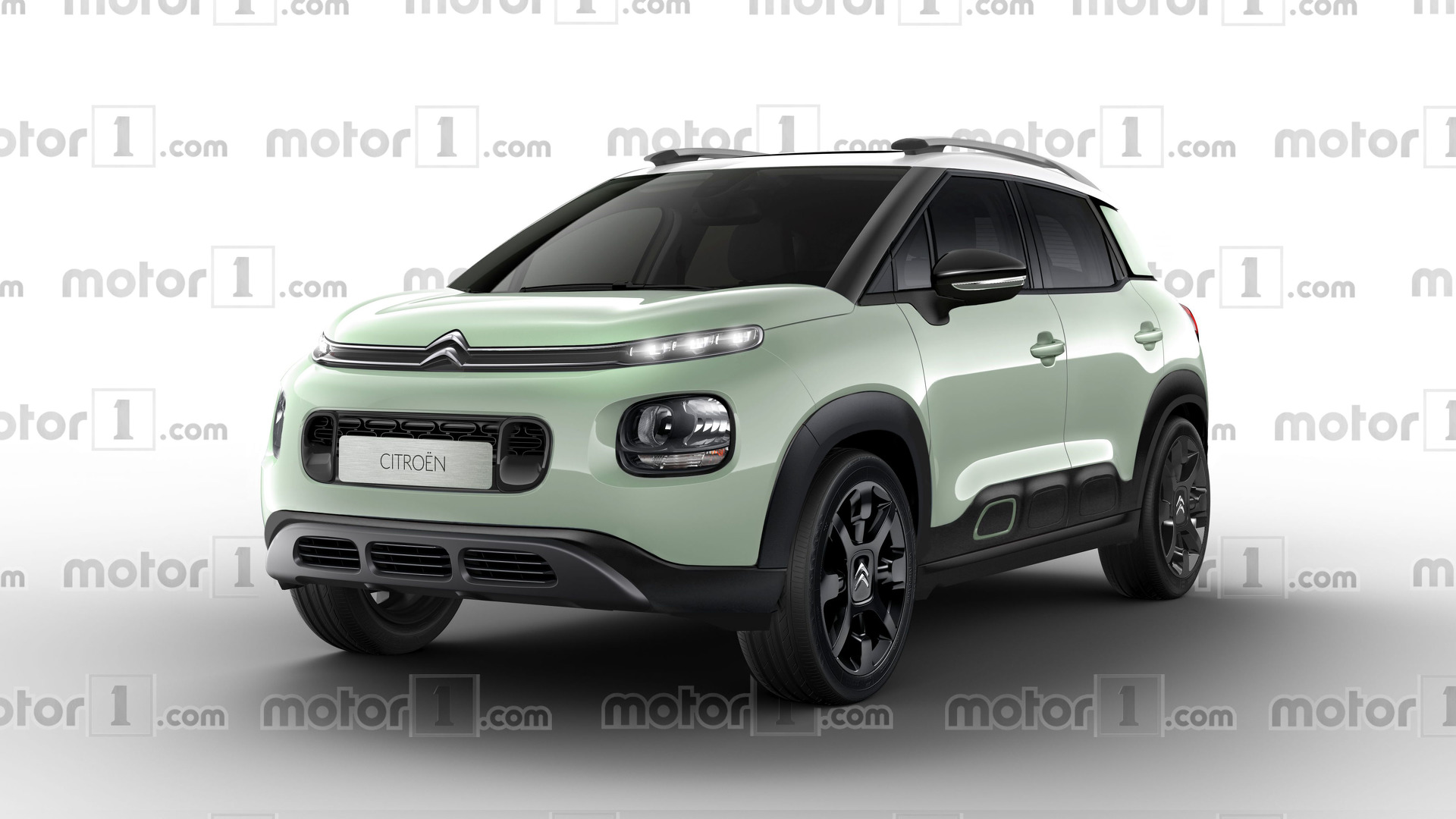 citroen c3 aircross render makes bold design statement. Black Bedroom Furniture Sets. Home Design Ideas