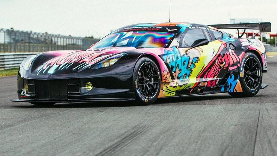 Larbre'nin Le Mans'da yarışacağı Art Car giydirmesi