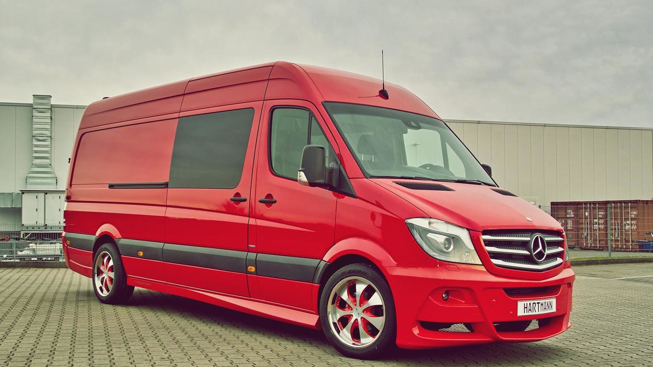 facelifted mercedes benz sprinter modified by hartmann