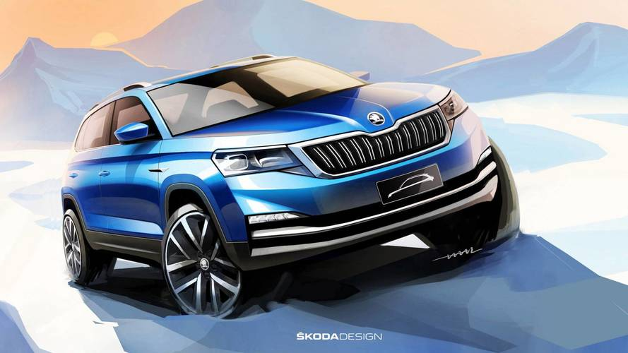 Skoda reveals sketches of new city SUV for China