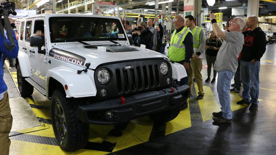 Last Jeep Wrangler JK rolls off production line in Ohio