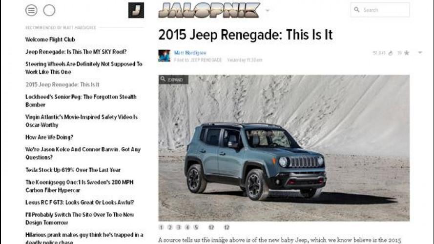 Jeep Renegade, ecco le prime immagini