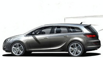 2010 Opel Astra Estate Sketch