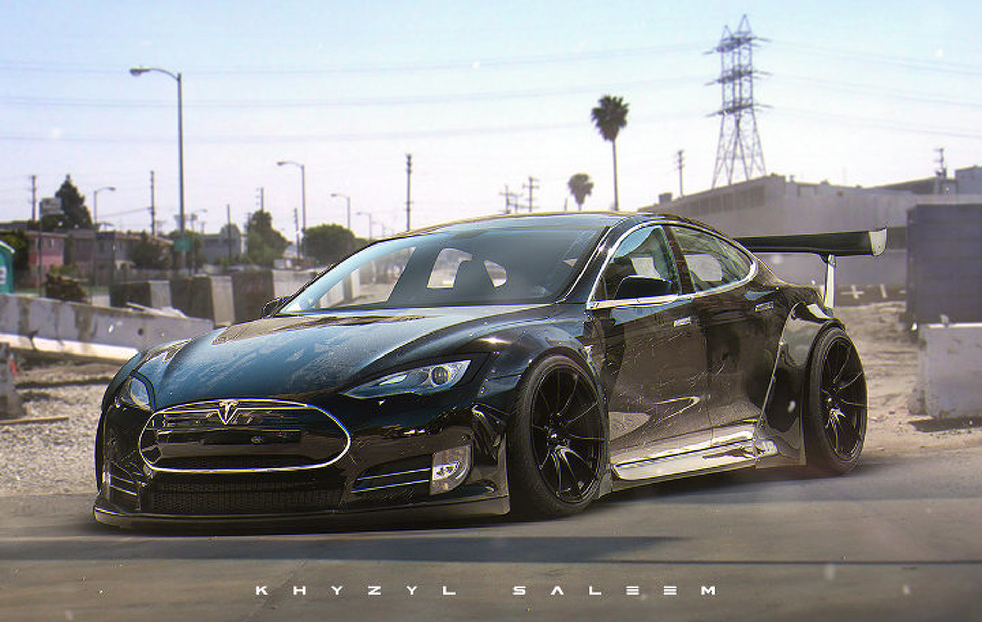 Tesla Model S Custom >> Custom Tesla Model S Liberty Walk Needs To Happen