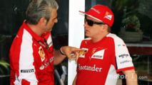Maurizio Arrivabene, Ferrari Team Principal with Kimi Raikkonen, Ferrari