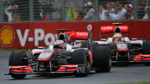 Jenson Button (GBR), McLaren Mercedes and Lewis Hamilton (GBR), McLaren Mercedes - Formula 1 World Championship, Rd 2, Australian Grand Prix