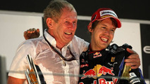 Helmut Marko (AUT), Red Bull Racing, Red Bull Advisor, Sebastian Vettel (GER), Red Bull Racing - Formula 1 World Championship, Rd 19, Abu Dhabi Grand Prix, 14.11.2010