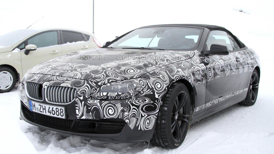 2012 BMW M6 Cabrio spied in the cold