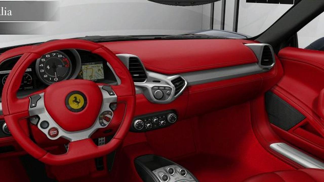 Ferrari 458 Italia  Configurator - interior