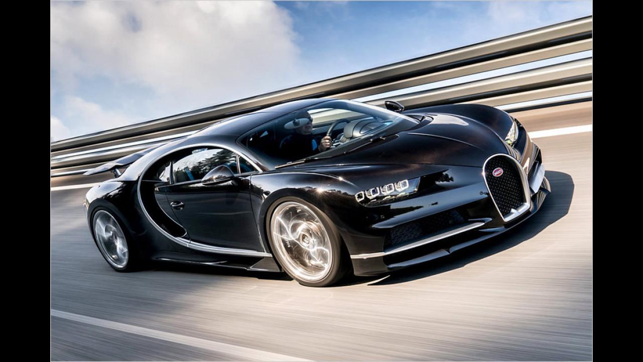Teuerstes Serienauto: Bugatti Chiron, 2.856.000 Euro