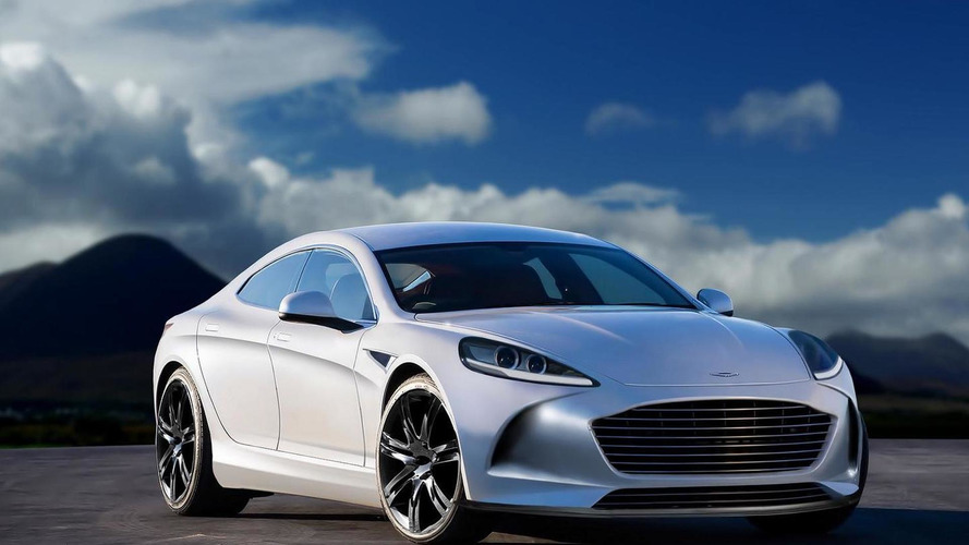 Second generation Aston Martin Rapide imagined through render
