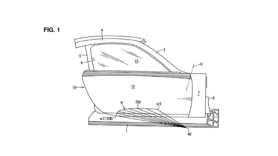 Mazda, yukarıya doğru açı alan kapı patenti aldı