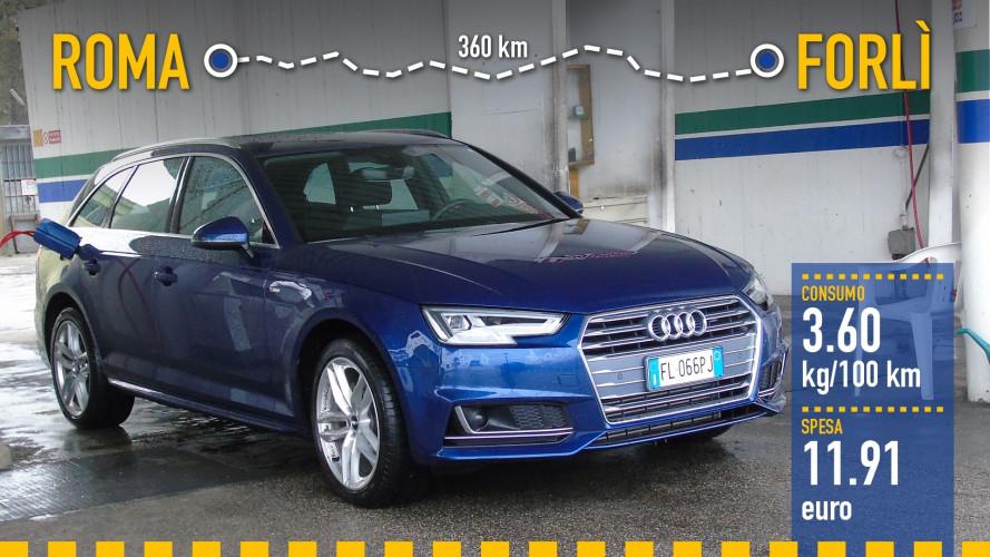 Audi A4 Avant g-tron, la prova dei consumi reali