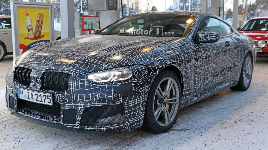 BMW M8 Coupe Caught Up Close After Feeding At Gas Station