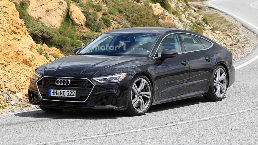 Audi S7 tamamen kamuflajsız görüntülendi